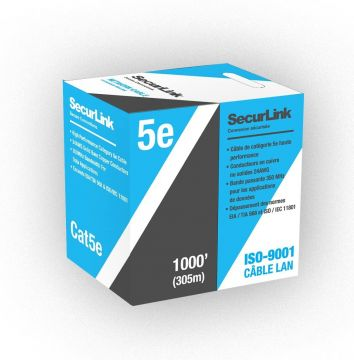 JECB-CAT5E-G/P/O SecurLink CAT5E 1000ft FT-4 Cable
